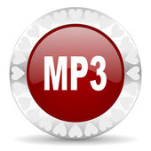 Mp3 valentines day icon — Stock Photo