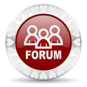 Forum valentines day icon — Stock Photo
