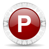 Parking valentines day icon — Stockfoto