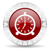 Alarm valentines day icon — Stock Photo