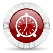 Alarm valentines day icon — Stock Photo
