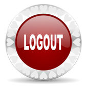 Logout valentines day icon — Stock Photo