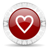 Heart valentines day icon — Stock Photo