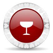 Alcohol valentines day icon — Stock Photo