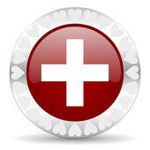 Plus de dag van Valentijnskaarten pictogram — Stockfoto