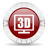 3d display valentines day icon — Stock Photo