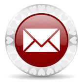 Mail valentines day icon — Stock Photo