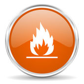 炎のアイコン — ストック写真