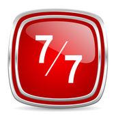 7 per 7 icon — Stock Photo