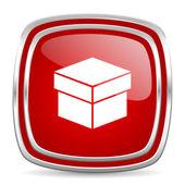 Ícone da caixa — Fotografia Stock