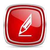 Icona matita — Foto Stock
