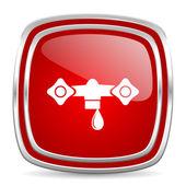 Water icon — Stock Photo