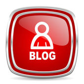 Ikona blog — Zdjęcie stockowe