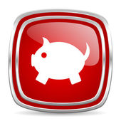Piggy bank icon — Stock Photo