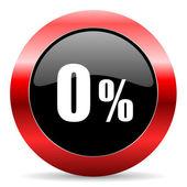 0 percent icon — Stock Photo