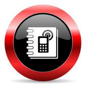 Phonebook icon — Stockfoto