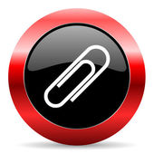 Paperclip icon — Stock Photo
