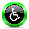 Stock Photo: Wheelchair icon
