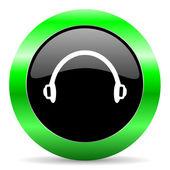 Headphones icon — Stock Photo