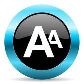 Alphabet icon — Stock Photo