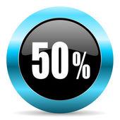 50 percent icon — Stock Photo