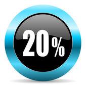 20 percent icon — Stock Photo