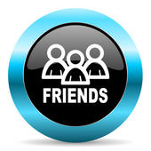 Friends icon — Stock Photo