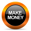 Stock Photo: Make money icon