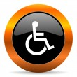 Wheelchair icon — Stock Photo #39978785