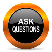Ask questions icon — Stock Photo
