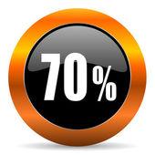 70 Prozent-Symbol — Stockfoto
