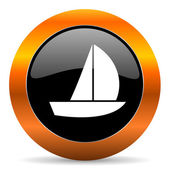Yacht icon — Stock Photo