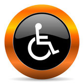 Wheelchair icon — Stock Photo