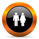 Couple icon — Stock Photo