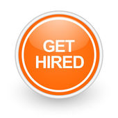 Get hired icon — Stock Photo