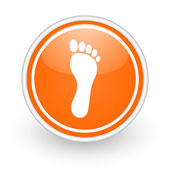 Foot icon — Foto de Stock