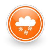 Snowing icon — Stock Photo
