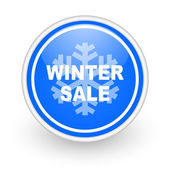 Winter sale icon — Stock fotografie