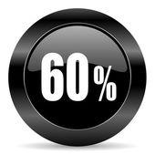 60 percent icon — Stock Photo