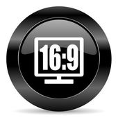 16 9 display icon — Stock Photo