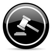 Auction icon — Stock Photo