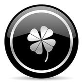 Four-leaf clover icon — Stock Photo
