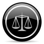 Spravedlnost ikona — Stock fotografie