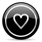 Heart icon — Stock fotografie