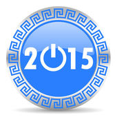 New year 2015 icon — Stock Photo