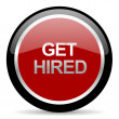 Stock Photo: Get hired icon
