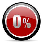 0 percent icon — Stock Photo