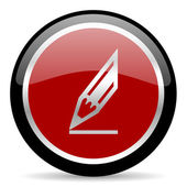Pencil icon — Zdjęcie stockowe