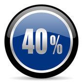 40 Prozent-Symbol — Stockfoto
