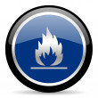 Stock Photo: Flame icon